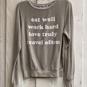 Dream Scene Wildfox Eat Well Work Hard Sweatshirt